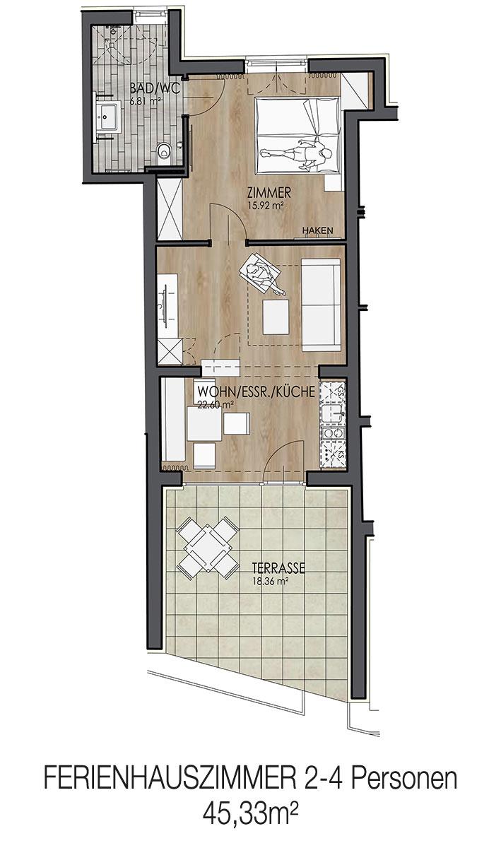 Krumpendorf Gartenappartement/Bungalow 2-4 Personen