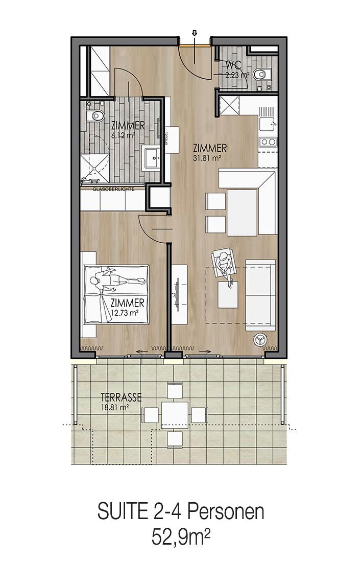 Krumpendorf Appartement Haupthaus 2-4 Personen